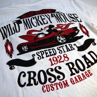 画像3: LOWBLOW KNUCKLE × Mickey Mouse コラボTシャツ WILD MICKY [ CROSS ROAD ]