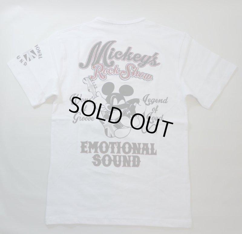 画像1: LOWBLOW KNUCKLE × Mickey Mouse コラボTシャツ [ ROCK SHOW ] (1)