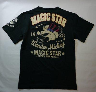 画像1: LOWBLOW KNUCKLE × Mickey Mouse コラボTシャツ [ MAGIC STAR ]