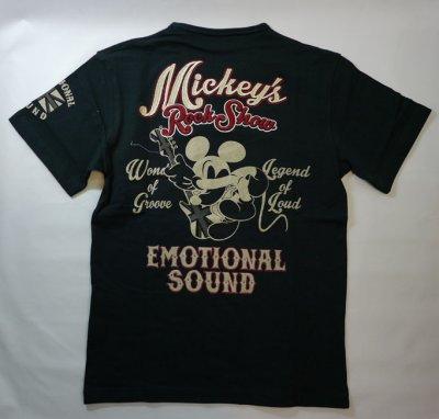 画像1: LOWBLOW KNUCKLE × Mickey Mouse コラボTシャツ [ ROCK SHOW ]