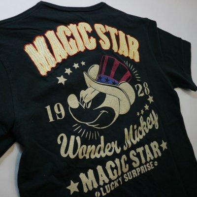 画像3: LOWBLOW KNUCKLE × Mickey Mouse コラボTシャツ [ MAGIC STAR ]