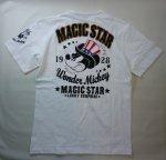 画像1: LOWBLOW KNUCKLE × Mickey Mouse コラボTシャツ [ MAGIC STAR ] (1)