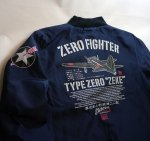 画像9: 粋狂 ナイロン ジャンパー [ ZERO FIGHTER ]  (9)