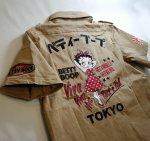 画像3: BETTY BOOP × LOWBLOW KNUCKLE  コラボ  ミリタリーシャツ (3)