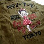 画像18: BETTY BOOP × LOWBLOW KNUCKLE  コラボ  ミリタリーシャツ (18)