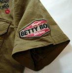 画像20: BETTY BOOP × LOWBLOW KNUCKLE  コラボ  ミリタリーシャツ (20)