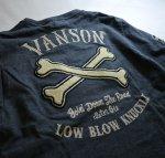 画像12: VANSON × LOWBLOW KNUCKLE  コラボ  クロスボーンワッペン ロンT (12)
