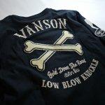 画像6: VANSON × LOWBLOW KNUCKLE  コラボ  クロスボーンワッペン ロンT (6)