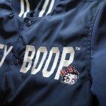 画像7: BETTY BOOP × LOWBLOW KNUCKLE  コラボ  ナイロン スタジャン ネイビー (7)