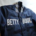 画像4: BETTY BOOP × LOWBLOW KNUCKLE  コラボ  ナイロン スタジャン ネイビー (4)