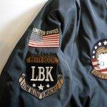 画像7: BETTY BOOP × LOWBLOW KNUCKLE  コラボ  MA-1 フライトジャケット ブラック (7)