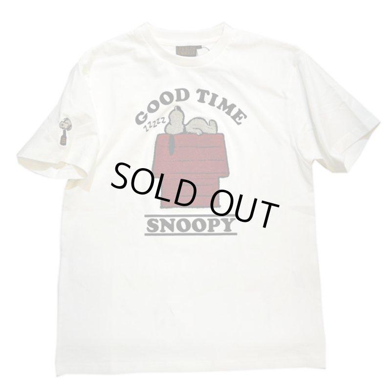 画像1: スヌーピー × LOWBLOW KNUCKLE  コラボ  Tシャツ 588402 (1)