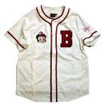 画像2: BETTY BOOP × LOWBLOW KNUCKLE コラボ  ベースボールシャツ 529410 (カットソー)ホワイト (2)