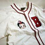 画像5: BETTY BOOP × LOWBLOW KNUCKLE コラボ  ベースボールシャツ 529410 (カットソー)ホワイト (5)