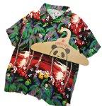 画像5: Pandiesta Japan   [ ヤシの木パンダ ] アロハシャツ レーヨンちりめん 529215 (5)
