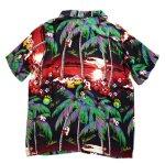 画像2: Pandiesta Japan   [ ヤシの木パンダ ] アロハシャツ レーヨンちりめん 529215 (2)