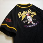 画像3: BETTY BOOP × LOWBLOW KNUCKLE コラボ  ベースボールシャツ 529410 (カットソー) ブラック (3)