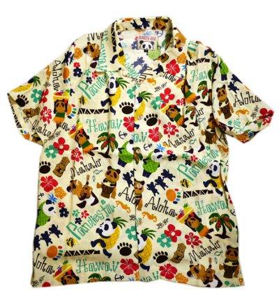画像3: Pandiesta Japan   [ パイナップルパンダ ] アロハシャツ レーヨンちりめん 529216