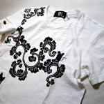 画像13: LIN (リン) 黒猫Lamy &ネズミEarl 唐草かくれんぼ プリント 刺繍 Tシャツ  ATL-75002 (13)