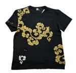 画像2: LIN (リン) 黒猫Lamy &ネズミEarl 唐草かくれんぼ プリント 刺繍 Tシャツ  ATL-75002 (2)