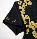 画像6: LIN (リン) 黒猫Lamy &ネズミEarl 唐草かくれんぼ プリント 刺繍 Tシャツ  ATL-75002 (6)