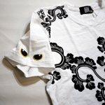 画像12: LIN (リン) 黒猫Lamy &ネズミEarl 唐草かくれんぼ プリント 刺繍 Tシャツ  ATL-75002 (12)