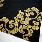 画像7: LIN (リン) 黒猫Lamy &ネズミEarl 唐草かくれんぼ プリント 刺繍 Tシャツ  ATL-75002 (7)