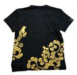 画像3: LIN (リン) 黒猫Lamy &ネズミEarl 唐草かくれんぼ プリント 刺繍 Tシャツ  ATL-75002 (3)