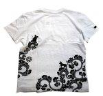 画像10: LIN (リン) 黒猫Lamy &ネズミEarl 唐草かくれんぼ プリント 刺繍 Tシャツ  ATL-75002 (10)