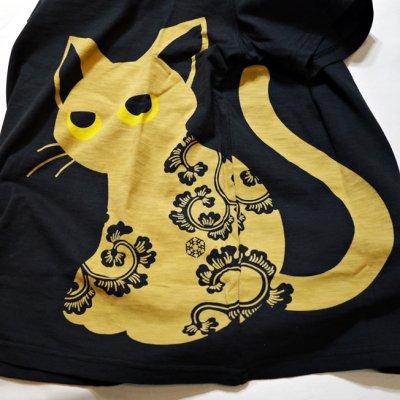 画像1: LIN (リン) 黒猫のLamy とネズミのEarl プリント 刺繍 Tシャツ  ATL-75001