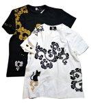 画像1: LIN (リン) 黒猫Lamy &ネズミEarl 唐草かくれんぼ プリント 刺繍 Tシャツ  ATL-75002 (1)