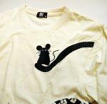 画像4: LIN (リン) [黒猫Lamy &ネズミEarl  ] 長袖Tシャツプリント 刺繍   ALLT-75005 オフホワイト (4)