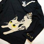 画像3: LIN (リン) [黒猫Lamy &ネズミEarl  ] 長袖Tシャツプリント 刺繍   ALLT-75005 ブラック (3)