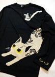 画像7: LIN (リン) [黒猫Lamy &ネズミEarl  ] 長袖Tシャツプリント 刺繍   ALLT-75005 ブラック (7)