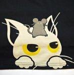 画像5: LIN (リン) [黒猫Lamy &ネズミEarl  ] 長袖Tシャツプリント 刺繍   ALLT-75005 ブラック (5)