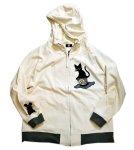 画像3: LIN (リン) [黒猫Lamy &ネズミEarl  ] 不思議の国のラミ&アール ジップパーカー 刺繍  ALP-75010 (3)