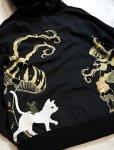 画像9: LIN (リン) [黒猫Lamy &ネズミEarl  ] 不思議の国のラミ&アール ジップパーカー 刺繍  ALP-75010 (9)