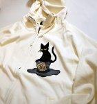 画像6: LIN (リン) [黒猫Lamy &ネズミEarl  ] 不思議の国のラミ&アール ジップパーカー 刺繍  ALP-75010 (6)