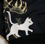 画像13: LIN (リン) [黒猫Lamy &ネズミEarl  ] 不思議の国のラミ&アール ジップパーカー 刺繍  ALP-75010 (13)