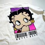 画像13: BETTY BOOP × LOWBLOW KNUCKLE コラボ [ バーコードBETTY ] 刺繍 長袖Tシャツ 530867 (13)