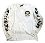 画像10: BETTY BOOP × LOWBLOW KNUCKLE コラボ [ バーコードBETTY ] 刺繍 長袖Tシャツ 530867 (10)