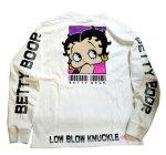 画像9: BETTY BOOP × LOWBLOW KNUCKLE コラボ [ バーコードBETTY ] 刺繍 長袖Tシャツ 530867 (9)