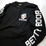 画像5: BETTY BOOP × LOWBLOW KNUCKLE コラボ [ バーコードBETTY ] 刺繍 長袖Tシャツ 530867 (5)