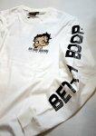 画像12: BETTY BOOP × LOWBLOW KNUCKLE コラボ [ バーコードBETTY ] 刺繍 長袖Tシャツ 530867 (12)