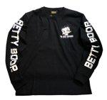 画像3: BETTY BOOP × LOWBLOW KNUCKLE コラボ [ バーコードBETTY ] 刺繍 長袖Tシャツ 530867 (3)