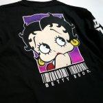 画像6: BETTY BOOP × LOWBLOW KNUCKLE コラボ [ バーコードBETTY ] 刺繍 長袖Tシャツ 530867 (6)