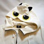 画像5: LIN (リン) [黒猫Lamy &ネズミEarl  ] ラミ&アール ジップパーカー 猫耳パーカー  ALP-75011 オフホワイト (5)