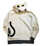 画像2: LIN (リン) [黒猫Lamy &ネズミEarl  ] ラミ&アール ジップパーカー 猫耳パーカー  ALP-75011 オフホワイト (2)