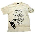 画像2: LIN (リン) 黒猫Lamy &ネズミEarl  黒猫Lamy&ネズミEarl [ WONDER LAND ] プリント 刺繍 Tシャツ  ATL-75017 (2)