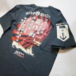 画像3:  粋狂 「幻の潜水空母」抜染プリント Tシャツ  SYT-193  ネイビー (3)